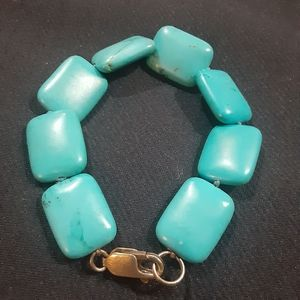 Sterling silver stabilized turquoise bracelet